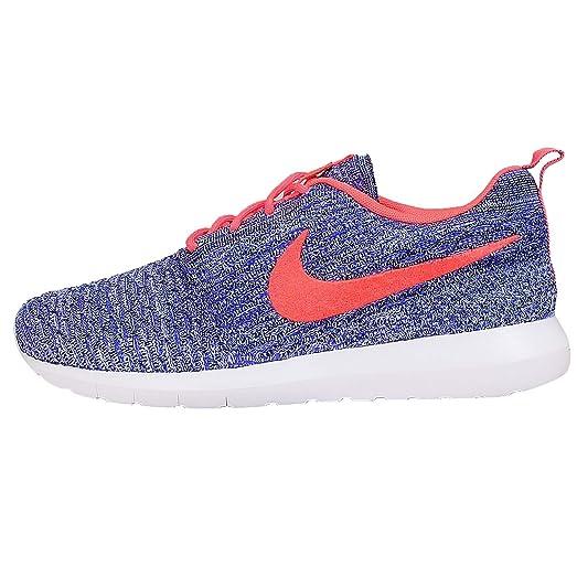 Nike Men's Flyknit Rosherun, PRSN VIOLET/HOT LAVA-WHITE-ALMNM, Style