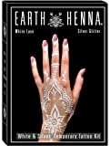 Body Art Temporary Tattoo Kit: White Lace & Silver Glitter Tattoo Set for Adults, Women, Girls & Teens - Custom DIY Body…
