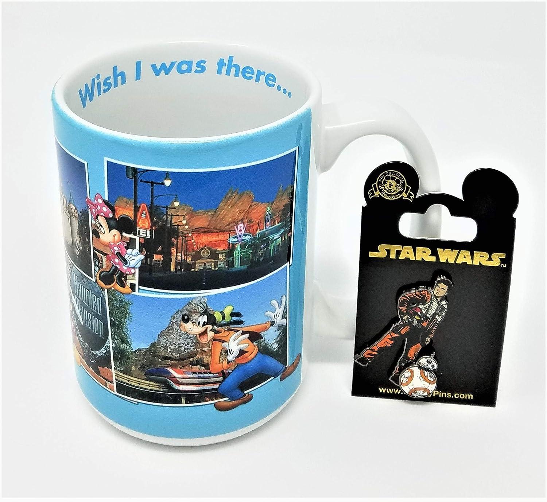 Disneyland Wish I Was There Attractions 12 oz Ceramic Mug with Star Wars Pin