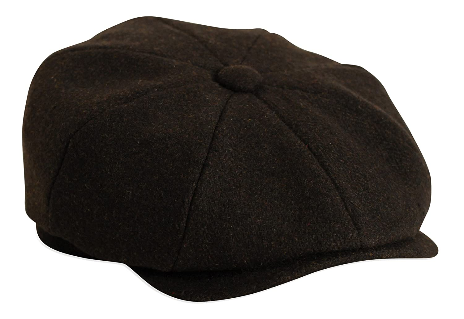 ' Shelby ' Black Herringbone Button Top Cap By Gamble & Gunn