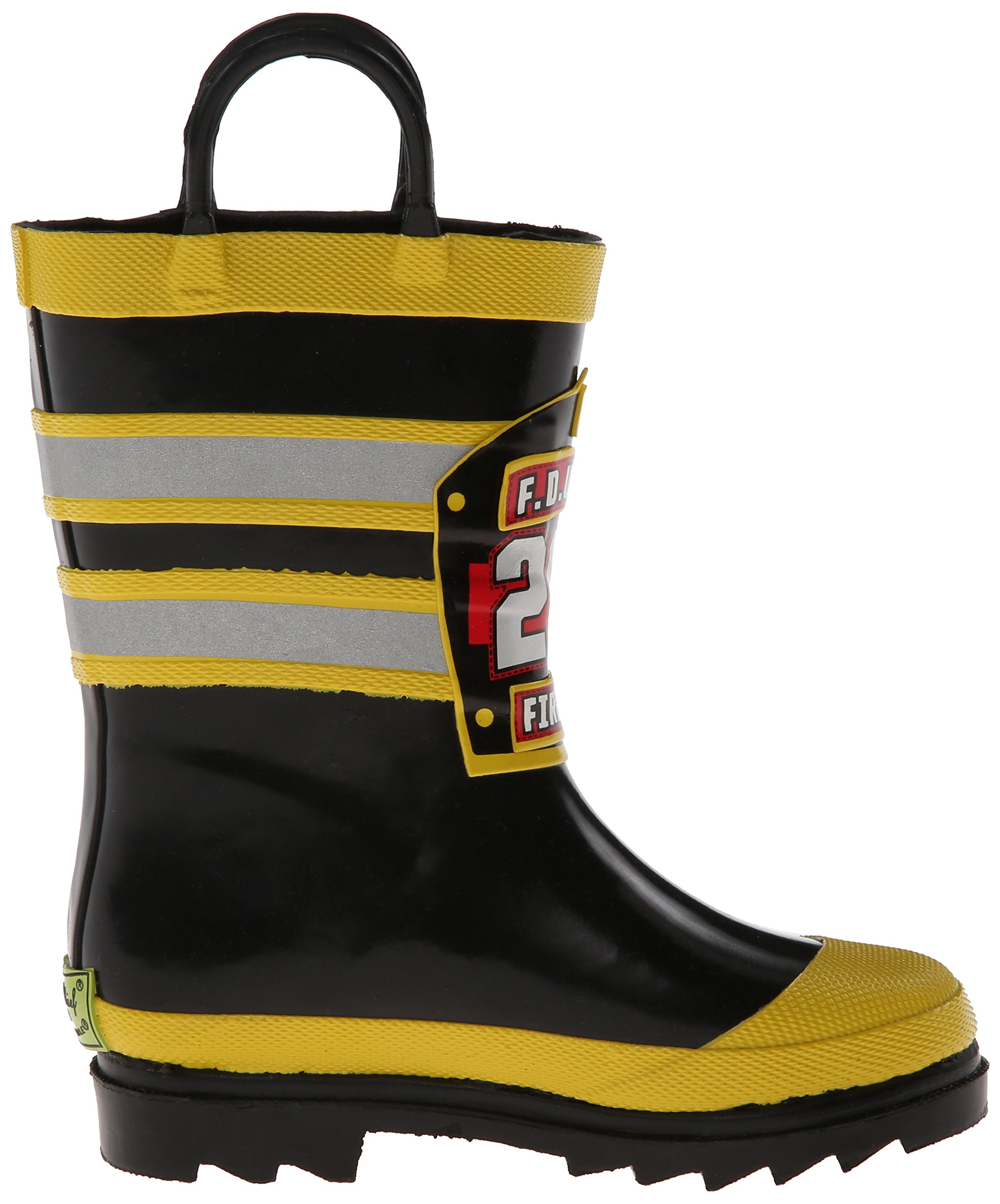 Image of the Western Chief Boys Waterproof Printed Rain Boot with Easy Pull On Handles, F.D.U.S.A., 10 M US Toddler