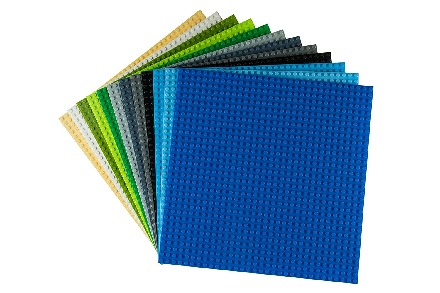 "Strictly Briks Classic Baseplates 10"" x 10"" Building Brick Base Plates 100% Compatible with All Major Brands 