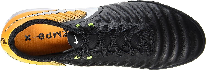 Nike Tiempox Ligera IV IC, Scarpe da Calcio Uomo Nero Black White Laser Orange Volt