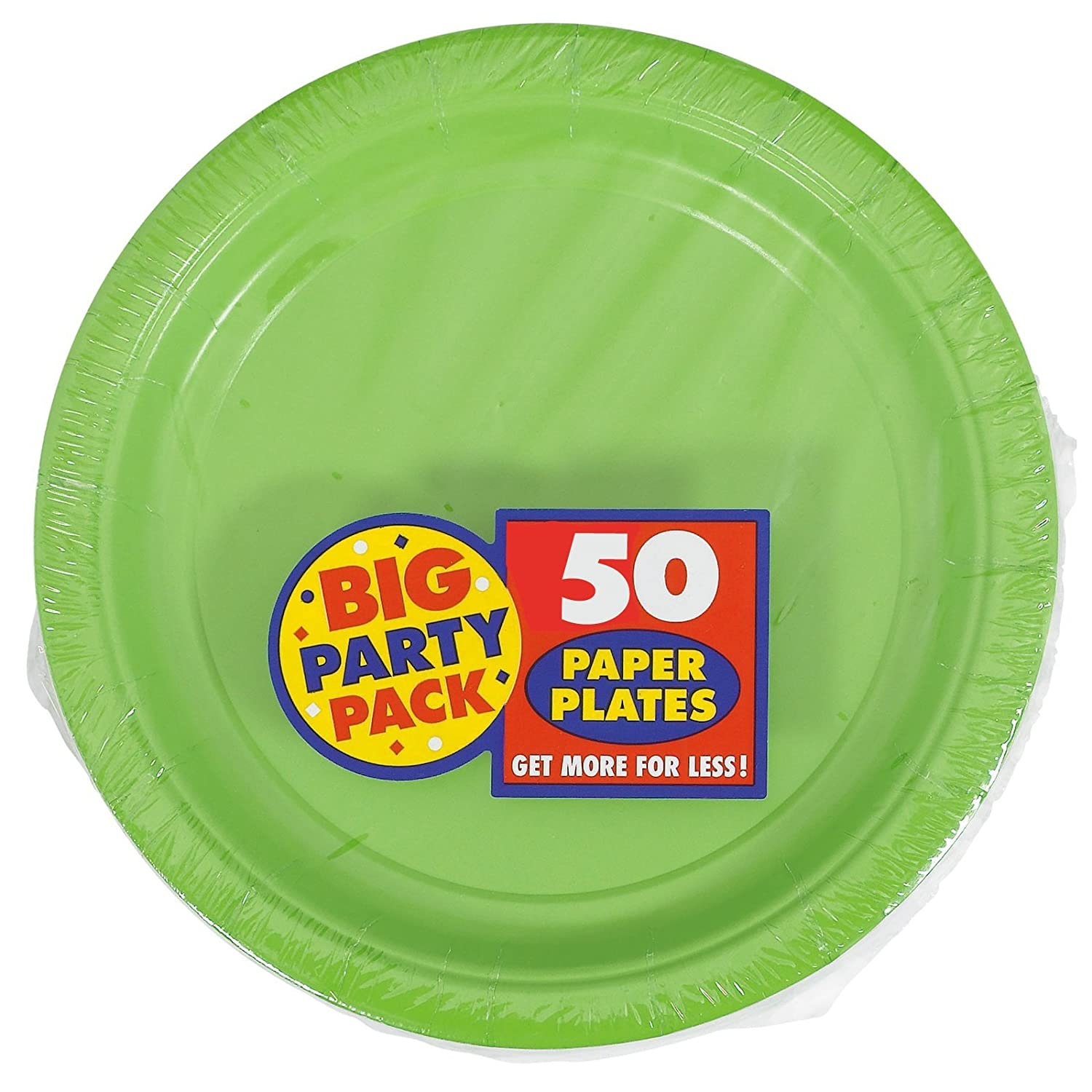 New Pink Big Party Pack 50 count Toy Dinner Plates