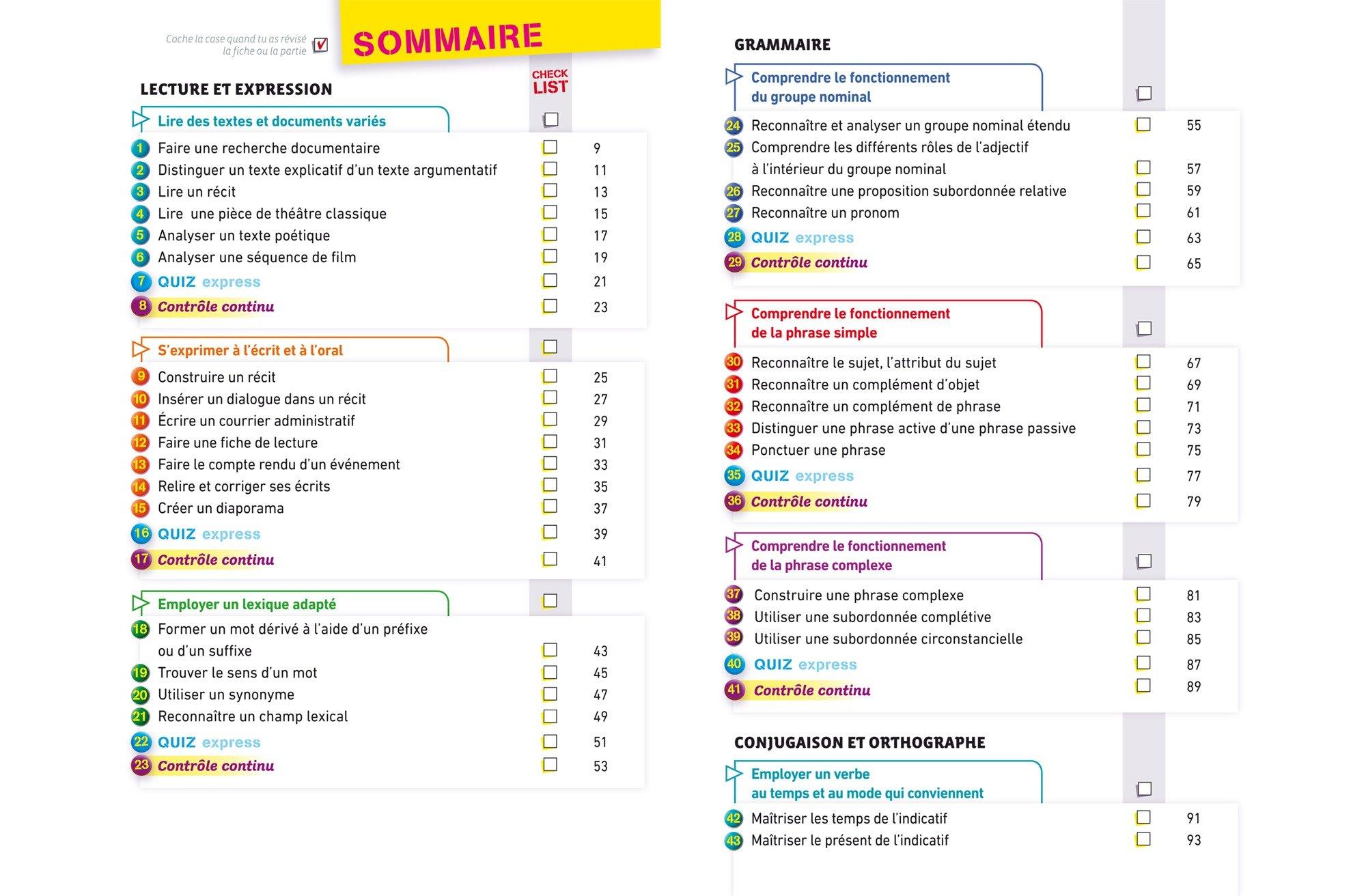 Mes fiches collège Français 4e: 40 fiches de révision et 120 exercices corrigés: Amazon.es: Hélène Ricard, Matthieu Verrier: Libros en idiomas extranjeros