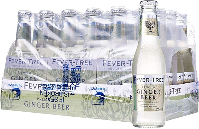 Fever-Tree Ginger Beer Refrescos - Paquete de 24 x 200 ml - Total: 4800 ml