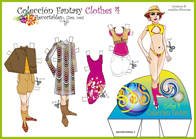 Colección Fantasy Clothes. Recortables. Recortar y vestir ...