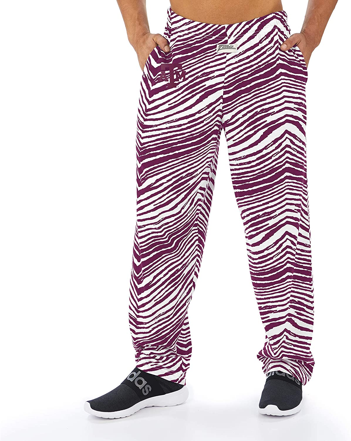 Multi Color Zubaz Officially Licensed NCAA Mens Zebra Pants Sizes Small to XX-Large