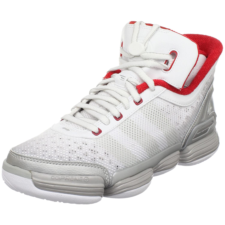 Amazon.com | adidas Men\u0027s TS Heat Check Basketball Shoe, Silver  Metallic/Silver Metallic/Red, 10.5 M US | Running