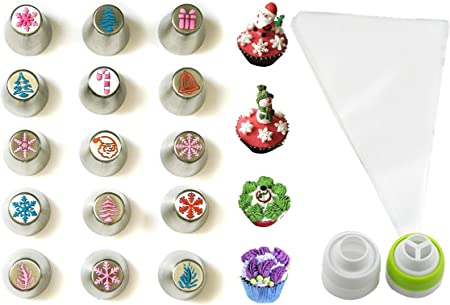 Jjmg New Russian Icing Piping Tips Christmas Design For Cakes Cupcakes Cookies Decoration Pastry Baking Tools
