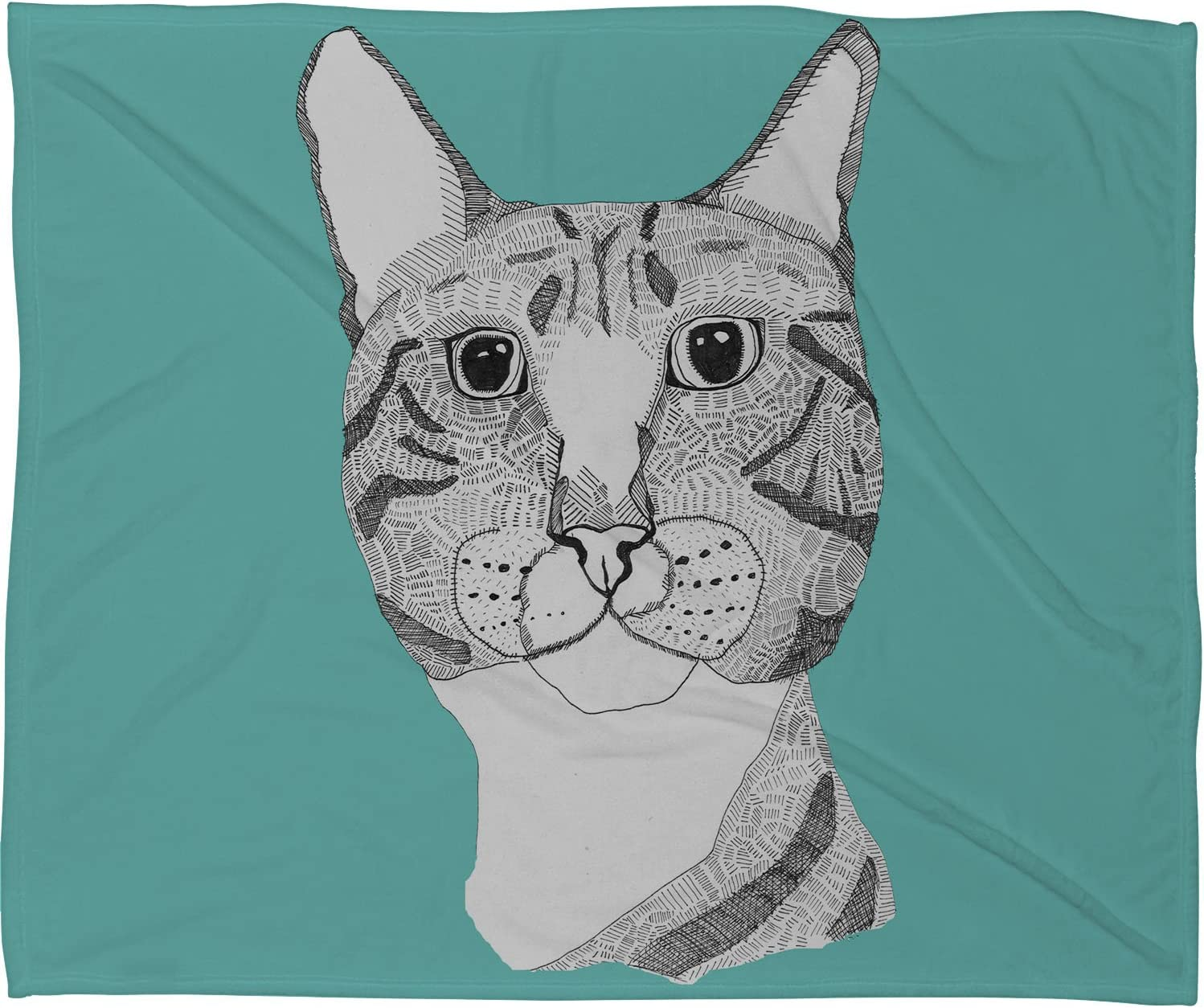 Deny Designs Casey Special price for a limited Beauty products time Rogers Tabby Cat Blanket Fleece 60 Throw 8 x
