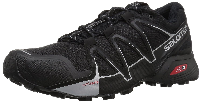 Salomon Hombre Speedcross Vario 2, Calzado de Trail Running 42 2/3 EU|Negro (Black/Black/Silver Metallic -X)