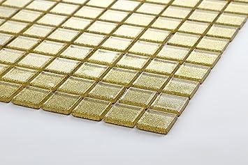 Glas Mosaik Fliesen Matte in Gold MT0080