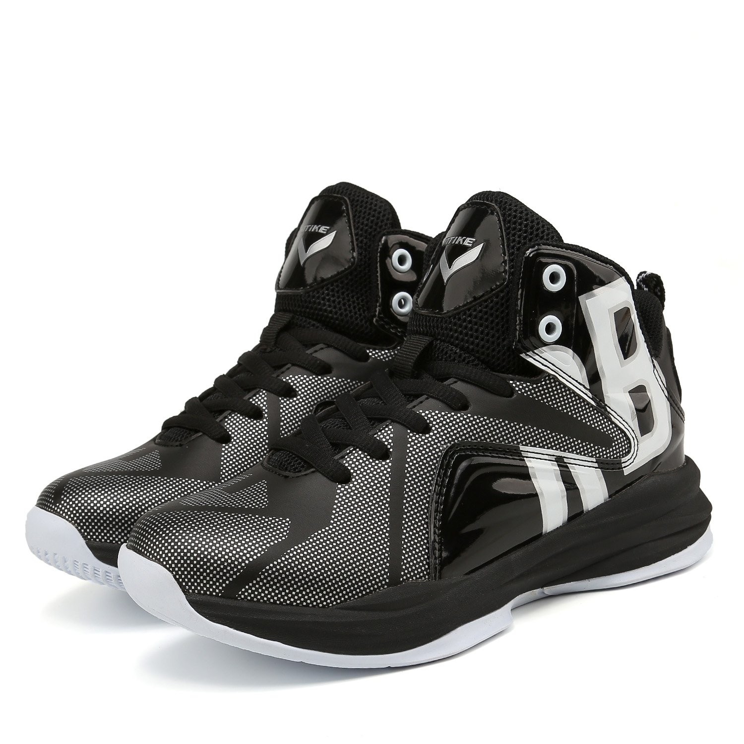 Little Kid//Big Kid 13M US Little Kid, Armor Black WETIKE Kids Basketball Shoes High-Top Sneakers Outdoor Trainers Durable Sport Shoes