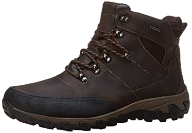 Rockport Men's Cold Springs Plus Mudguard Boot - Speed Lace Dark Brown  Oiled Leather 8.5 W