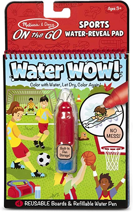 Occupations Reusable Water-Reveal Activity Pad Melissa /& Doug On The Go Water Wow Chunky-Size Water Pen