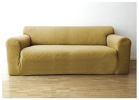 Bellboni Funda de sofá, Forro de sofá, Funda Ajustable bielástica, Apta para Muchos sofás Normales de 2 plazas, Crema