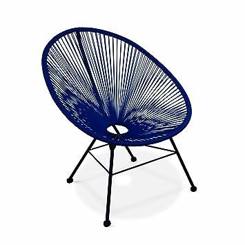 Bleu Acapulco Garden Fauteuil Alice's Oeuf Roi Design Cordage Pvc IyvYb7g6f