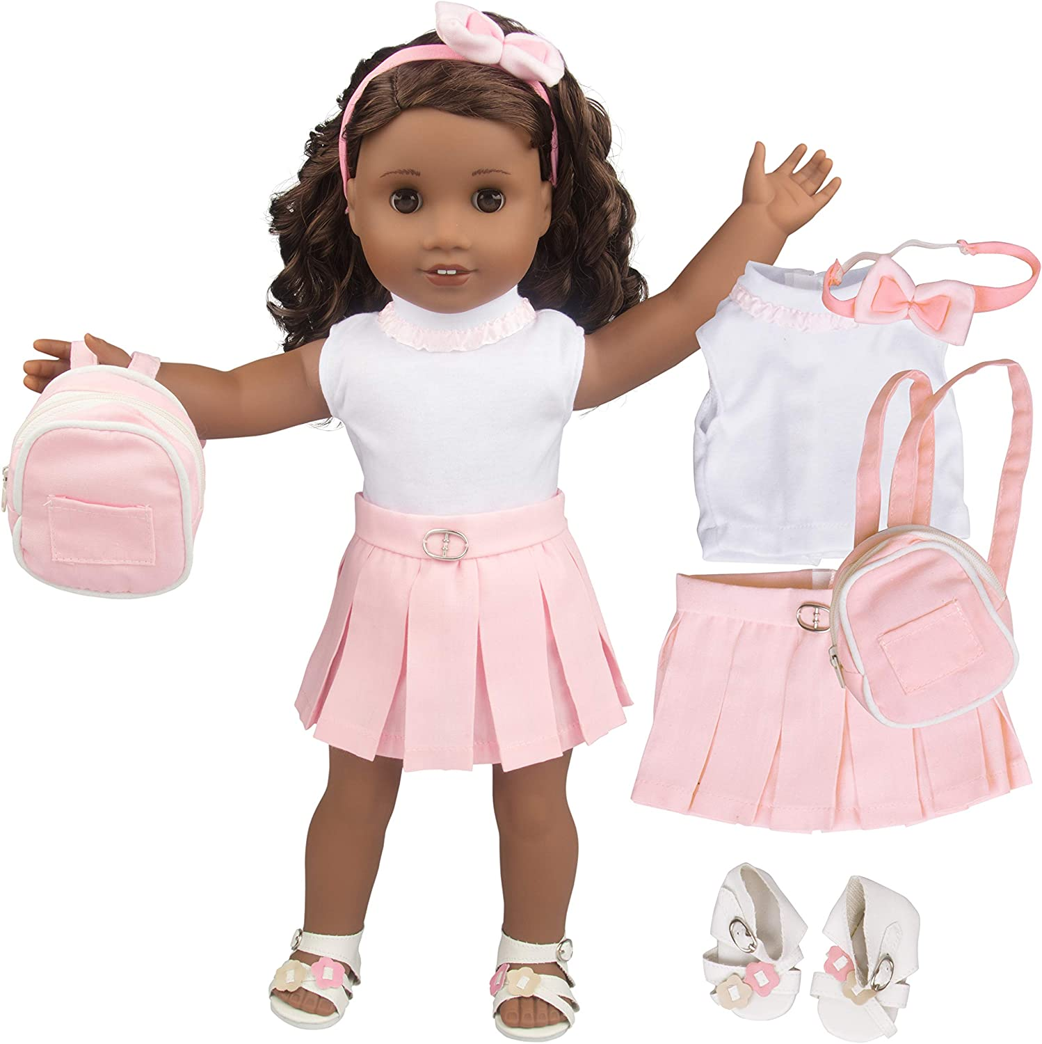 Hair Band for American 18 Inch Girl Dolls Dress Cute Bunny Doll Tight Clothes
