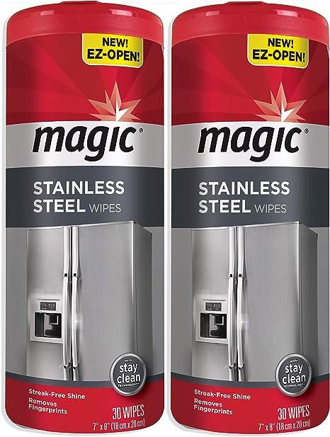 Amazon.com: Toallitas mágicas de acero inoxidable [2 ...
