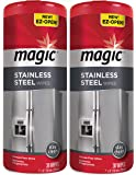 Magic Stainless Steel Wipes (2 Pack) Removes Fingerprints, Residue, Water Marks and Grease from Appliances - Works Great…