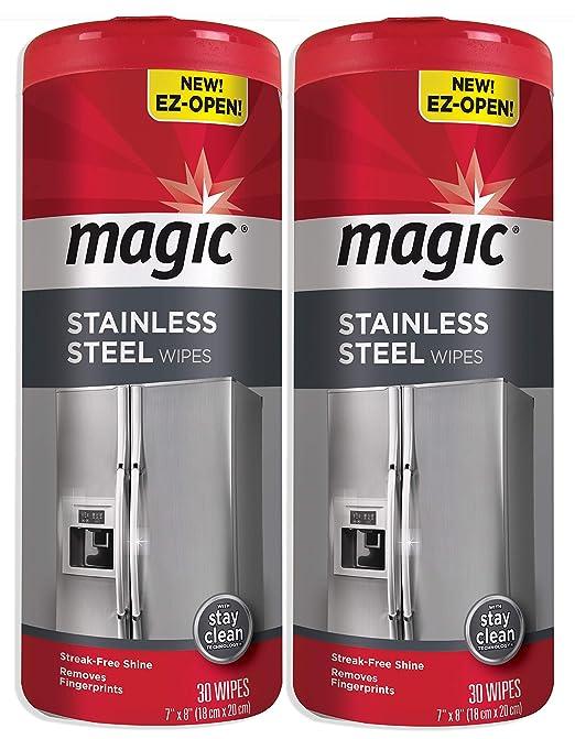 Toallitas mágicas de acero inoxidable [2 unidades] elimina huellas ...