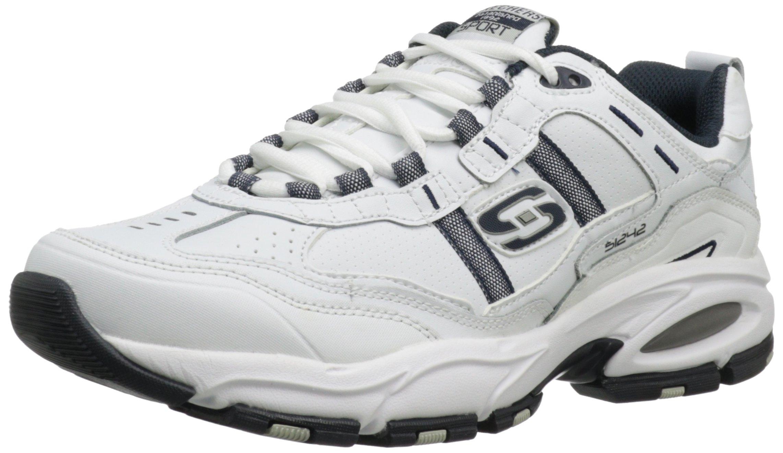 Skechers Sport Men's Vigor 2.0 Serpentine Memory Foam Sneaker,White/Navy,9.5 M US