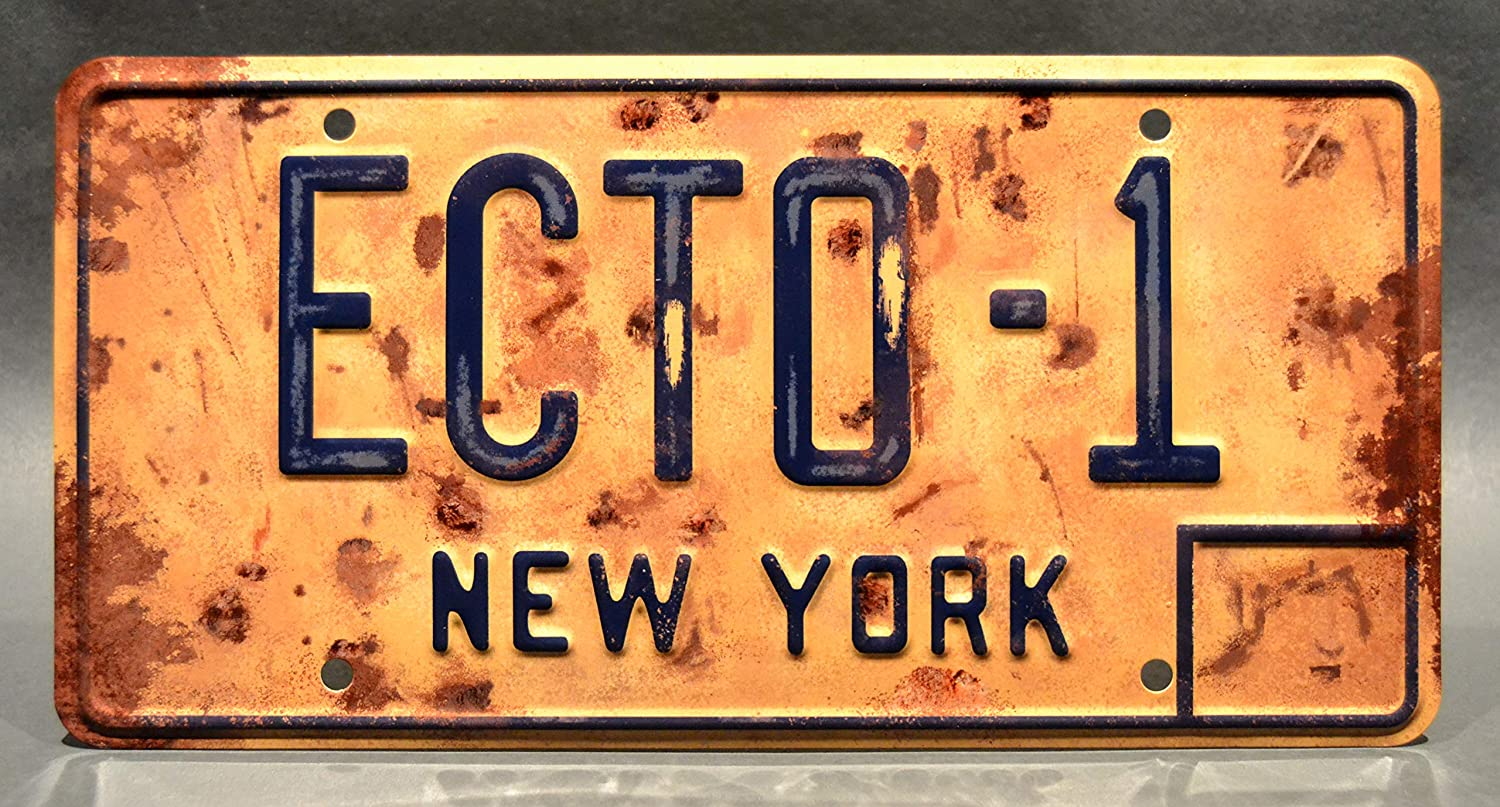 Celebrity Machines Ghostbusters Afterlife Metal Stamped License Plates ECTO-1