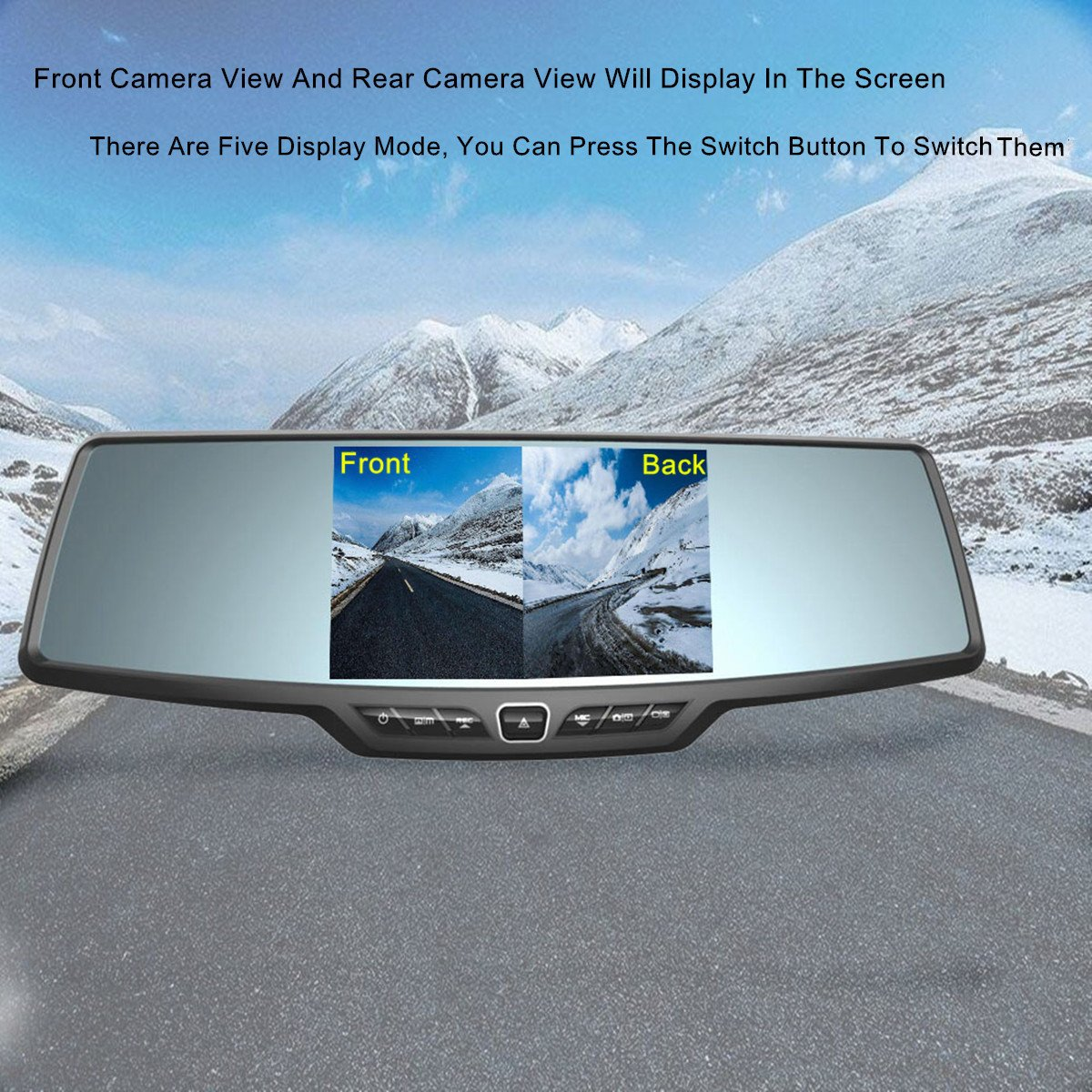 Dash Cam,4.3'' Full HD 1080P Rearview Mirror Dual Lens Video Recorder Car DVR 170 Degree Wide Angle, Loop Recording,G-Sensor,Parking Monitor,Reverse Image by Range Tour (Image #4)