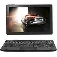 """2in1 10.1"""" Inch Google Laptop Tablet PC - Android 7.0 - 16 GB Expandable up to 128GB, Quad Core processor, WiFi, Bluetooth, IPS HD Screen, Google Play, FULL USB, Keyboard Case included in Bundle Zaith"""
