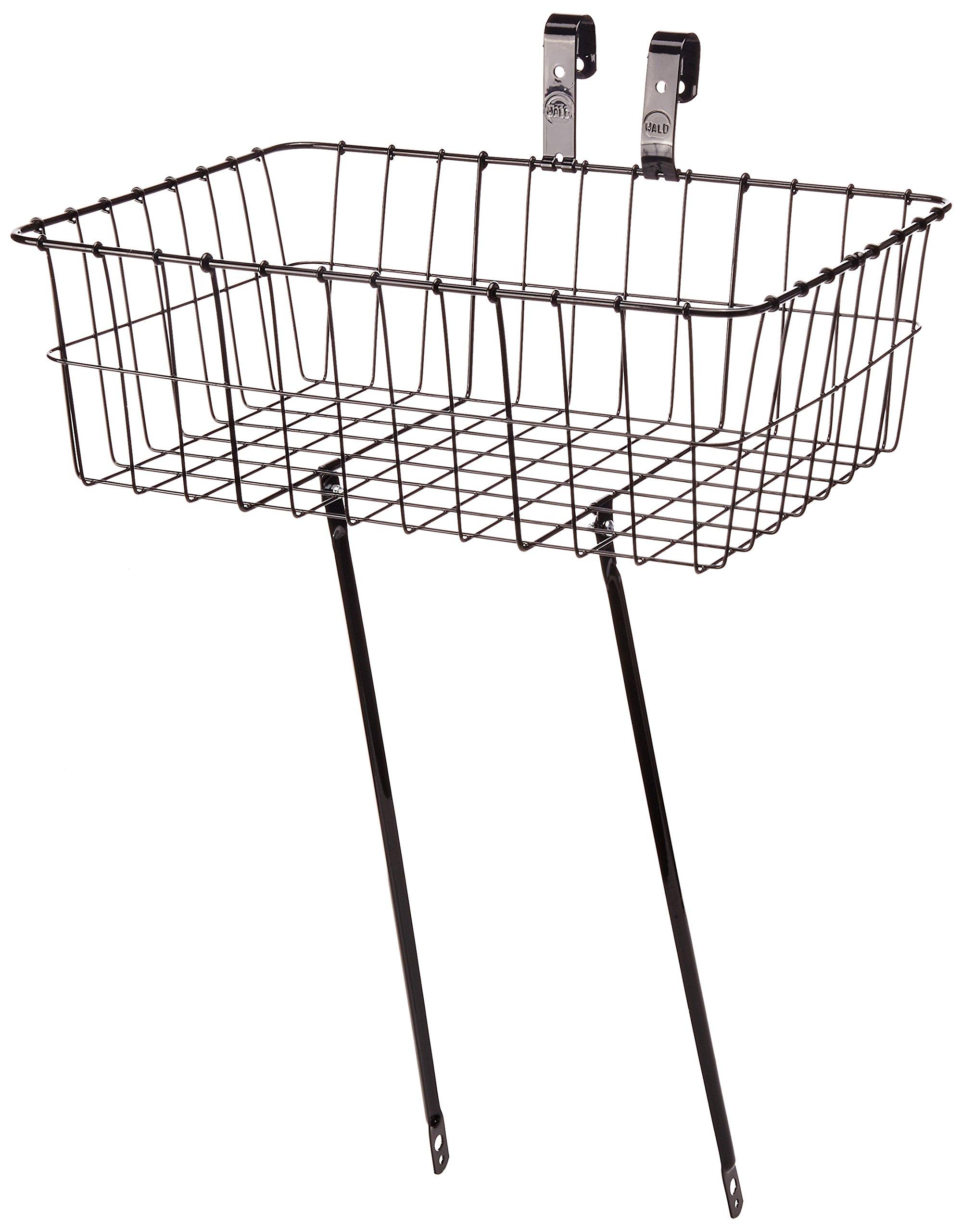 Wald 139 Front Bicycle Basket (18 x 13 x 6, Black)