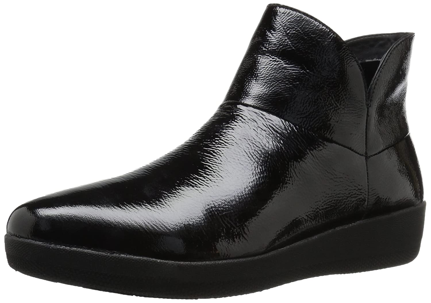 FitFlop Women's Supermod Boot Ankle Bootie B01IC22HE4 7.5 B(M) US|Black Patent