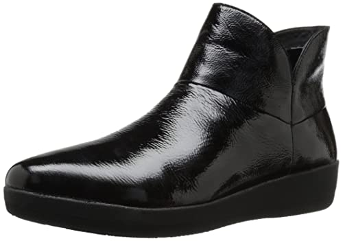 FitFlop Supermod Ankle Boot - Black Patent 6.5 UK 91y4rlv
