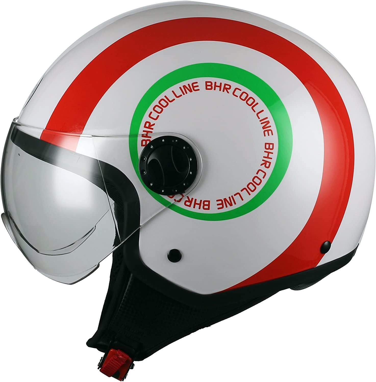 BHR 07799 Motorrad Helm Demi-Jet Line One 801 S L/ächeln 55//56 cm