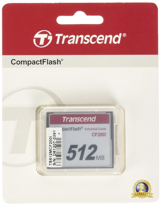 Transcend 512 Mo Carte mé moire CompactFlash (CF) 200x TS512MCF200I
