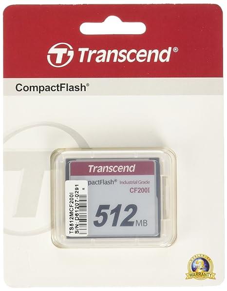 Transcend TS512MCF200I - Memoria Compact Flash de 512 MB