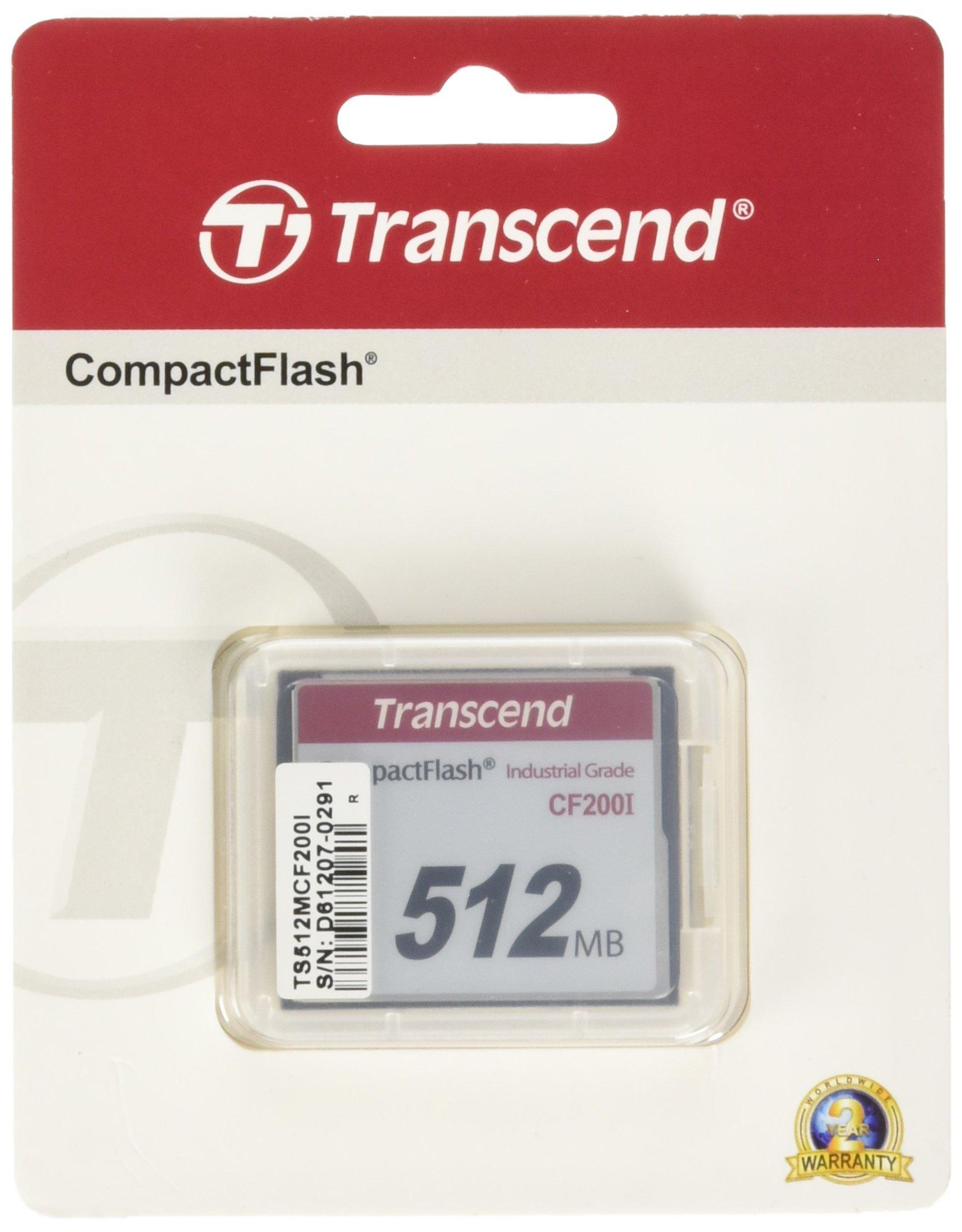 Transcend 512MB Industrial Compact Flash Card (TS512MCF200I)