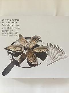 Carrefour ostras Vajilla Set de 6 Platos, 6 gaben y 1 Cuchillo para ostras