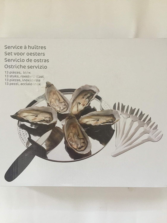Carrefour ostras Vajilla Set de 6 Platos, 6 gaben y 1 ...