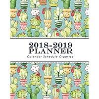 2018-2019 Planner: Pastel Cactus : Calendar Schedule Organizer - Size 8x10 inches (Organize Your Goals & Passions)