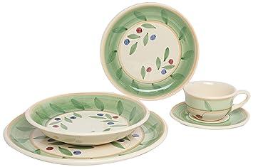 Caleca Olivella 5-Piece Dinnerware Place Setting Service for 1  sc 1 st  Amazon.com & Amazon.com | Caleca Olivella 5-Piece Dinnerware Place Setting ...