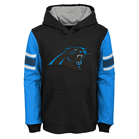 NFL Carolina Panthers Kids   Youth Boys Man in Motion Color Blocked Pullover  Hoodie 7b0024679
