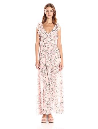 cd6540d198 Amazon.com  For Love   Lemons Women s Bee Balm Floral Maxi Dress ...