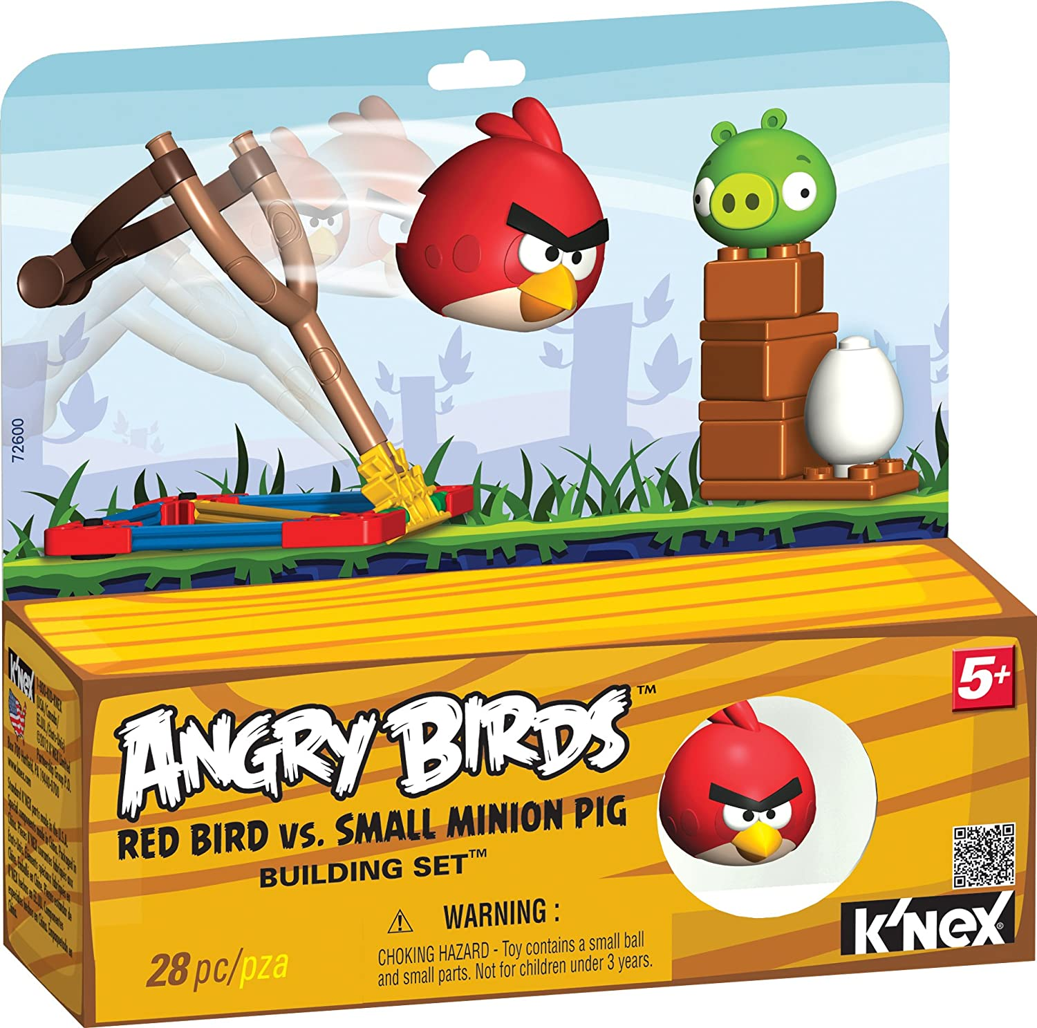 Angry Birds Space Super Red vs Small Minion Pig K/'Nex 27 Pc Toy 5 Build Knex
