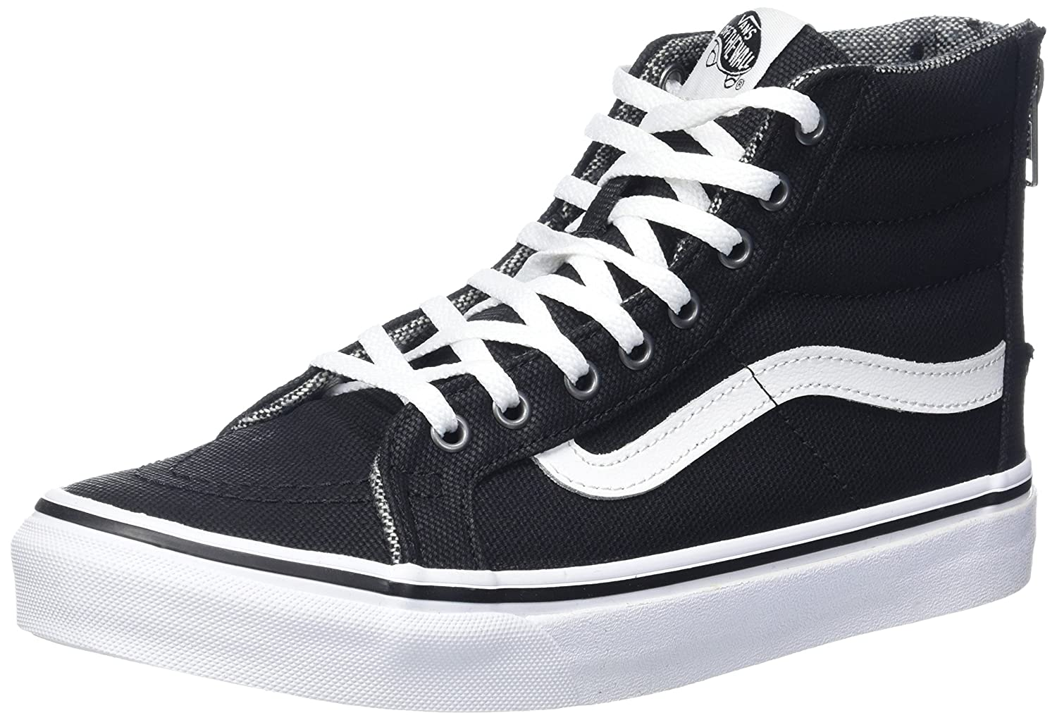 Vans Unisex Sk8-Hi Slim Women's Skate Shoe B00AMLGQMI 9.5 M US Women / 8 M US Men|Black/True White
