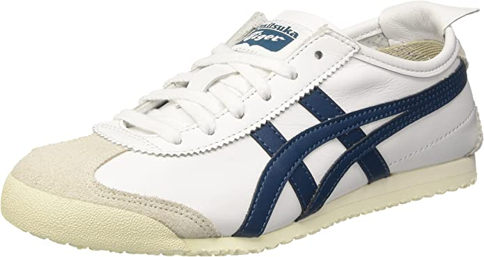 Asics Mexico 66 Sneakers Damen Herren Unisex Größe 36 – 48 Weiß/Elfenbein/Blau