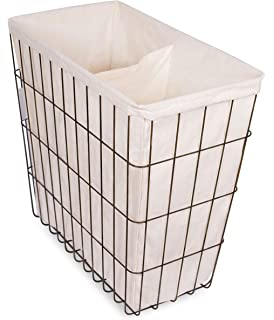 birdrock home wire double laundry hamper with liner modern age removable liner easily