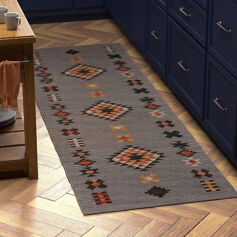 Blue 2 5 X10 Native American Design Floor Runner Modern
