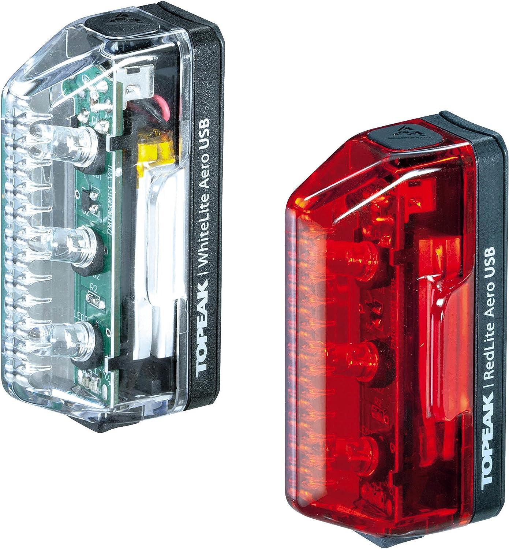Topeak Aero USB Combo Front Light /& Rear Light