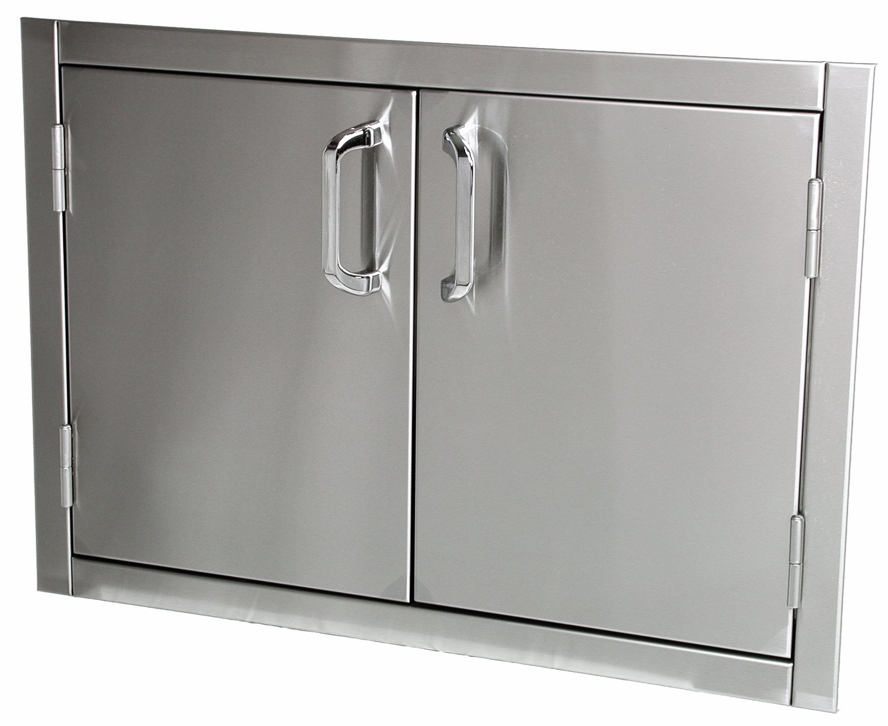Solaire 30-Inch Flush Mount Access Doors, Stainless Steel